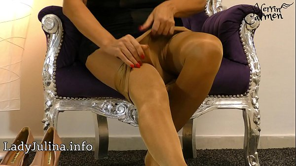 Nylon, Nylon feet, High​ heels, High heels, Heels, Mature feet