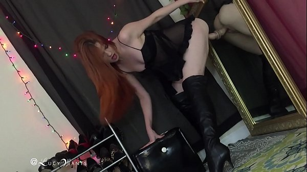 Boots, Leather, Boot, Thigh, Ride dildo