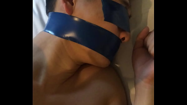 Tied, Chinese slave, Chinese boy, Pvc, Gag, Chinese k