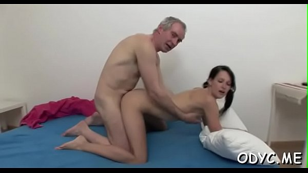 Hairy pussy, Old gangbang