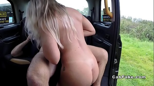 Taxi, Hairy blonde, Fake pussy